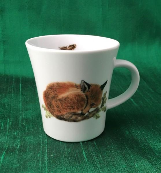 """Kaffeebecher """"Schlafender Fuchs"""""""