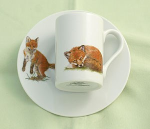 """Espressotasse mit Untertasse """"Fuchs"""""""