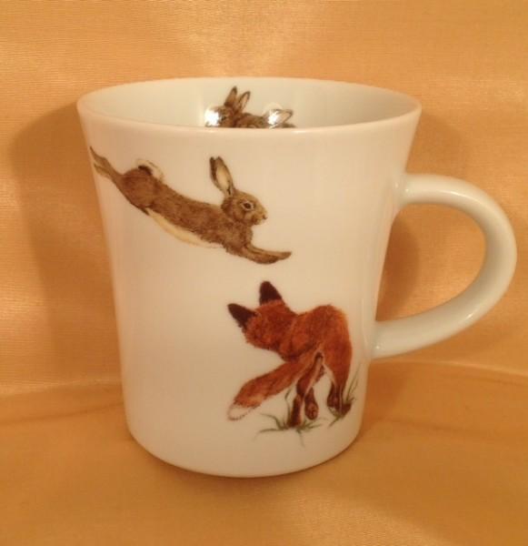 """Kaffeebecher """"Fuchs und Kaninchen"""""""