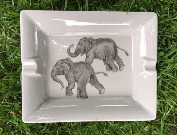 """Aschenbecher """"Zwei Elefanten"""""""