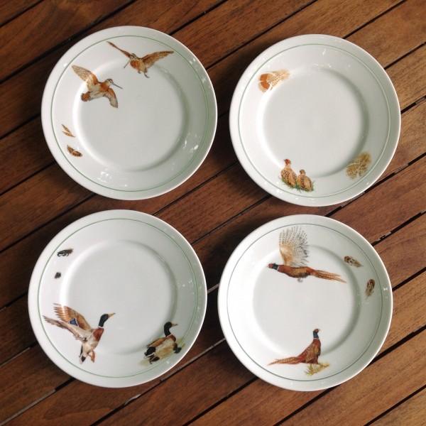 """4 Teller """"Flugwild 2"""", Ø 19,5 cm"""