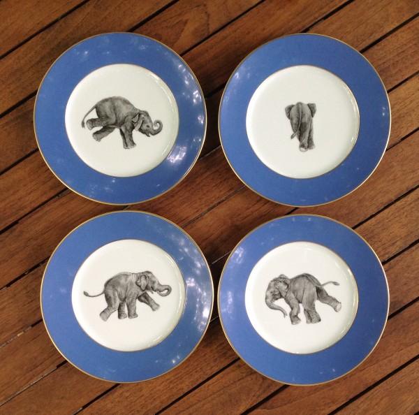 """4 Teller """"Elefant"""", Ø 19,5 cm"""