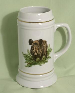 "Bierseidel Porzellan ""Keiler und Rotte"""