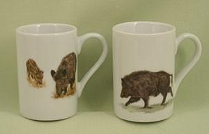 """Espressotasse """"Wildschweine"""", 2-teilig"""