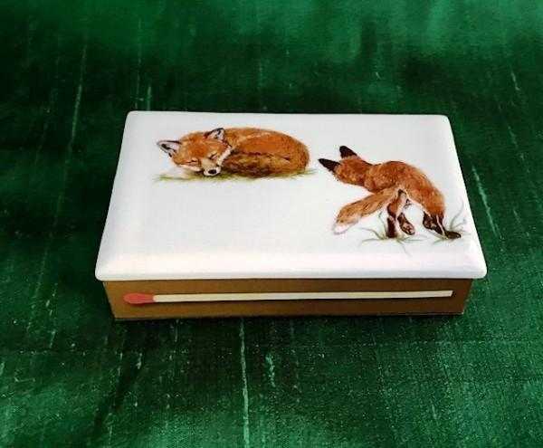 """Streichholzschachtel """"Fuchs 2"""", 7x10,5 cm"""