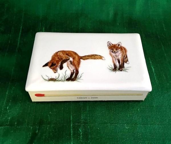 """Streichholzschachtel """"Fuchs 1"""", 7x10,5 cm"""