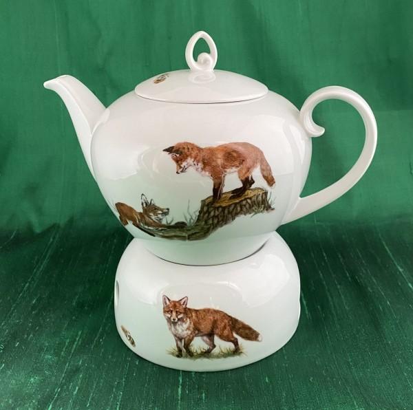"""Teekanne mit Stövchen """"Füchse"""", 1,1 Liter"""