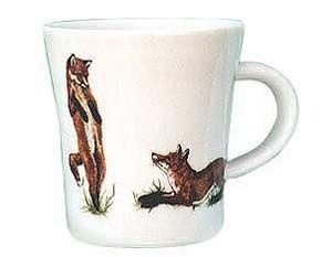 "Kaffeebecher ""spielende Fuchskinder"""