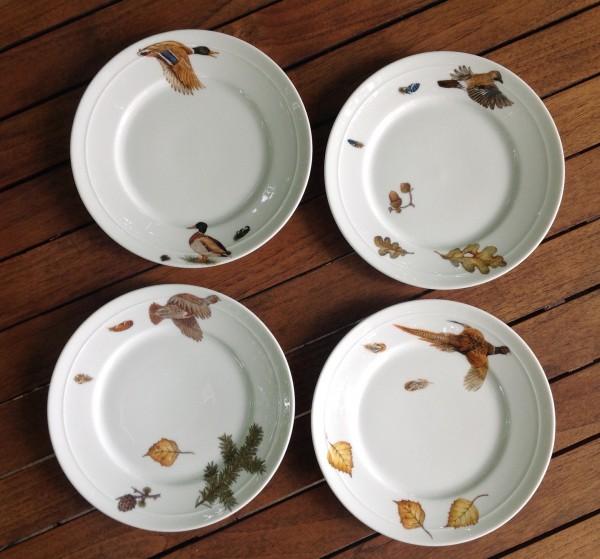 """4 Teller """"Flugwild"""", Ø 19,5 cm"""