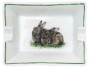 "Aschenbecher ""Zwei Kaninchen"""