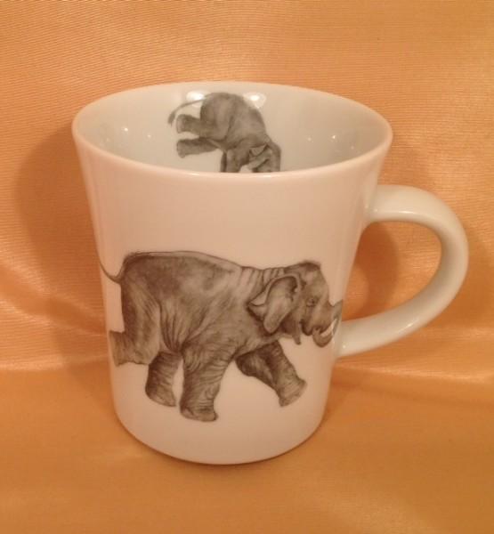 "Kaffeebecher ""Spielende Elefantenkinder"""