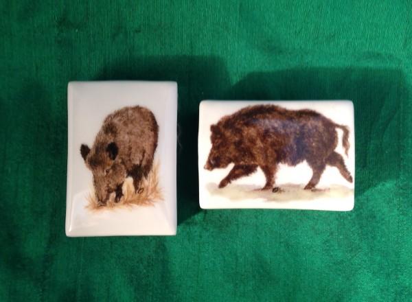 """Streichholzschachteln """"Wildschweine 1"""", 2-teilig"""