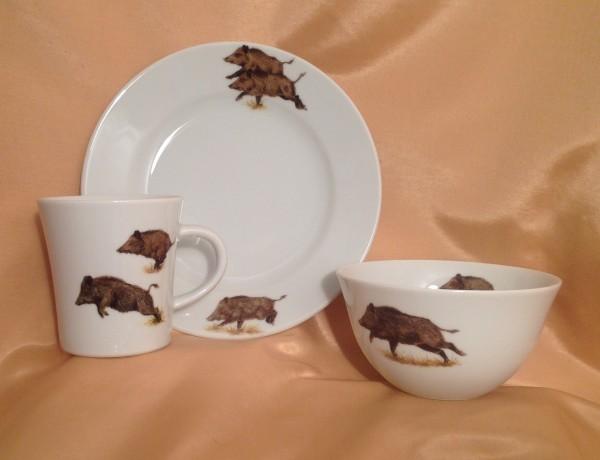 """Frühstücksset """"Wildschwein"""", 3-teilig"""
