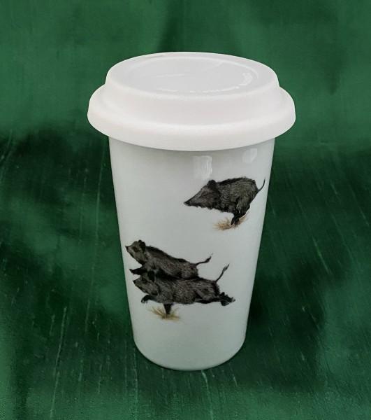 """Coffee-to-go-Becher """"Wildschweine"""""""