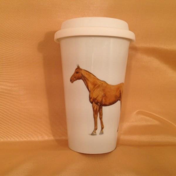 """Coffee-to-go-Becher """"Ein schönes Pferd"""""""