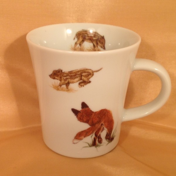 """Kaffeebecher """"Fuchs und Frischling"""""""