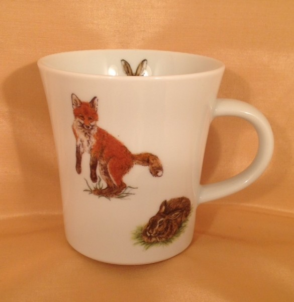"""Kaffeebecher """"Fuchs und Hase"""""""