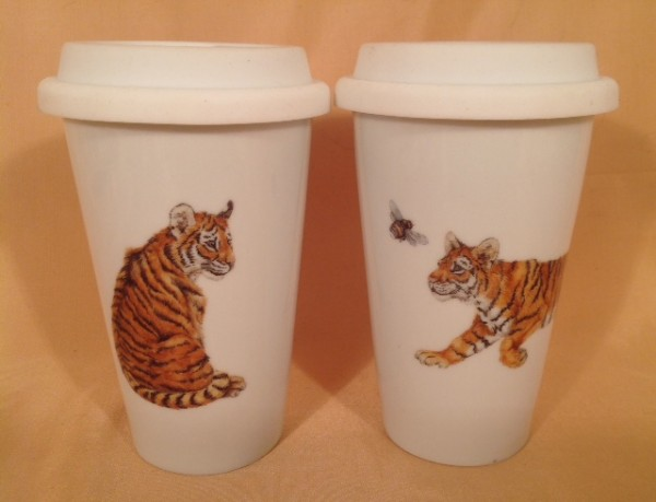 "Coffee-to-go-Becherset 2-teilig ""Tigerkinder"""